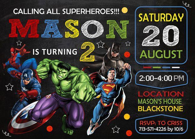 Avengers Invitations Printables, Superhero Invitation, Avengers Invite, Superhero Invite, Avengers Birthday Party, Avengers Printable, Avengers Card, DIY