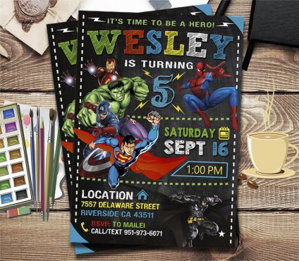 Avengers Party Ideas Card, Superhero Invitation, Avengers Invite, Superhero Invite, Avengers Birthday Party, Avengers Printable, Avengers Card, DIY