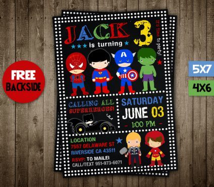 Avengers Invitation Card, Superhero Invitation, Avengers Invite, Superhero Invite, Avengers Birthday Party, Avengers Printable, Avengers Card, DIY