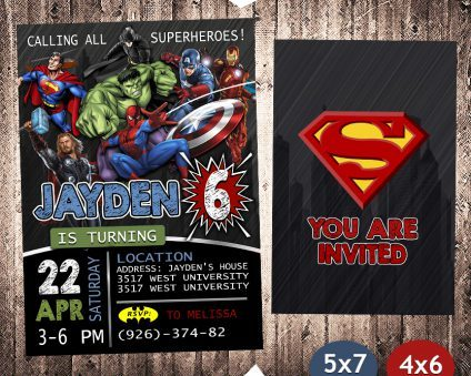 Avengers Party Invites, Superhero Invitation, Avengers Invite, Superhero Invite, Avengers Birthday Party, Avengers Printable, Avengers Card, DIY