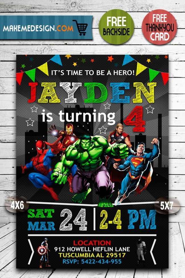 Avengers Birthday Invitations, Superhero Invitation, Avengers Invite, Superhero Invite, Avengers Birthday Party, Avengers Printable, Avenger Card, DIY