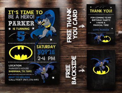 Batman Birthday Invites, Batman Invite, Batman Birthday Party, Batman Printable, DIY