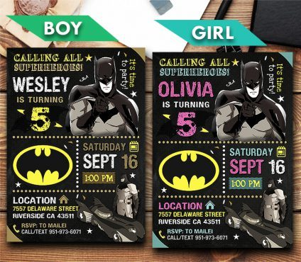 Batman Invitations Printables, Batman Invite, Batman Birthday Party, Batman Printable, DIY