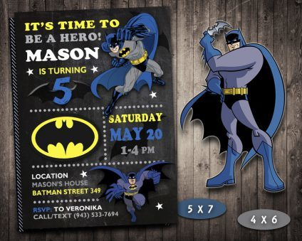 Batman Invitation, Batman Invite, Batman Birthday Party, Batman Printable, DIY