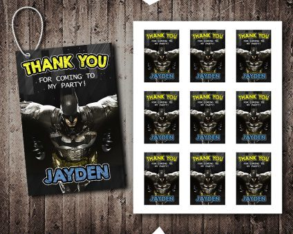 Batman Thank You Tags, Superheroes Thank You Tags, Batman Tags, Batman Thank You Card, DIY
