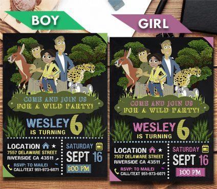 Wild Kratts Invitation, Wild Kratts Invite, Wild Kratts Birthday Party, Wild Kratts Printable, Wild Kratts Card, DIY