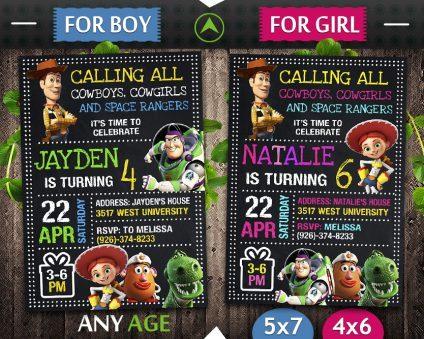 Toy Story Birthday Invitations, Toy Story Invite, Toy Story Birthday Party, Toy Story Printable, Toy Story Card, DIY
