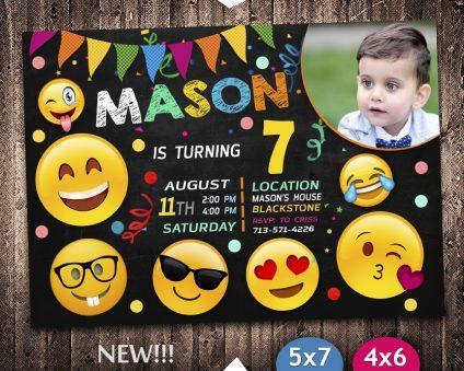 Emoji Invitation With Picture, OMG Invitation, Emoji Invite, OMG Invite, Emoji Birthday Party, Emoji Printable, Emoji Card, DIY