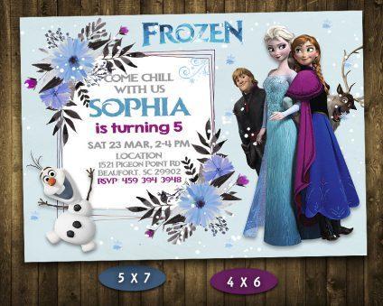 Frozen Birthday Invitations Girl, Frozen Invite, Frozen Birthday Party, Frozen Printable, Frozen Card, DIY