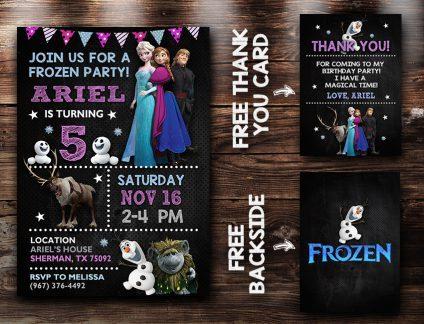 Frozen Birthday Invitations, Frozen Invite, Frozen Birthday Party, Frozen Printable, Frozen Card, DIY