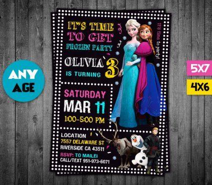 Frozen Invitations Printables, Frozen Invite, Frozen Birthday Party, Frozen Printable, Frozen Card, DIY