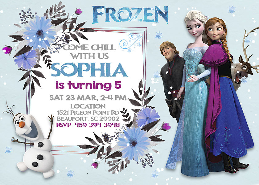 This is a photo of Frozen Invites Printable with regard to background