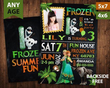 Frozen Summer Invitation, Frozen Summer Invite, Frozen Summer Birthday Party, Frozen Printable, Frozen Card, DIY
