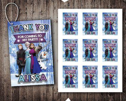 Frozen Thank You Tags, Frozen Tags, Frozen Thank You Card, DIY