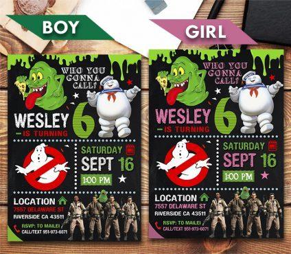 Ghostbusters Invitation, Ghostbusters Invite, Ghostbusters Birthday Party, Ghostbusters Printable, Ghostbusters Card, DIY