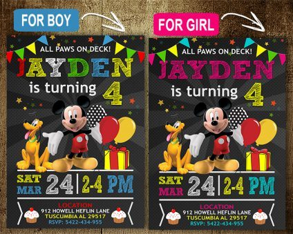 Mickey Mouse Party Invites, Mickey Mouse Invite, Mickey Mouse Birthday Party, Mickey Mouse Printable, Mickey Mouse Card, DIY