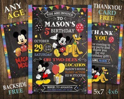 Mickey Mouse Invitations Printables, Mickey Mouse Invite, Mickey Mouse Birthday Party, Mickey Mouse Printable, Mickey Mouse Card, DIY