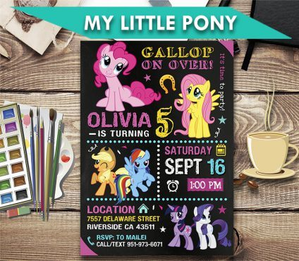 My Little Pony Invitation, My Little Pony Invite, My Little Pony Birthday Party, My Little Pony Printable, My Little Pony Card, DIY