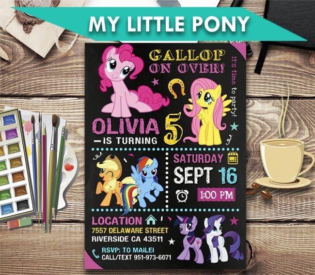 My Little Pony Invitation, My Little Pony Invite, My Little Pony Birthday Party, My Little Pony Printable, My Little Pony Card, DIY