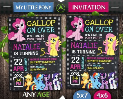 My Little Pony Birthday Invite, My Little Pony Invite, My Little Pony Birthday Party, My Little Pony Printable, My Little Pony Card, DIY