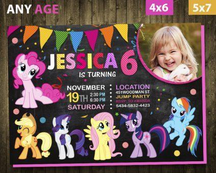 My Little Pony Invitations Girl, My Little Pony Invite, My Little Pony Birthday Party, My Little Pony Printable, My Little Pony Card, DIY