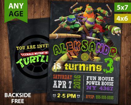 Ninja Turtles Invitation, TMNT, Ninja Turtles Invite, Ninja Turtles Birthday Party, Ninja Turtles Printable, DIY