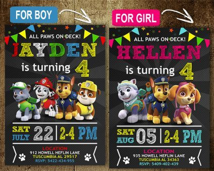 Paw Patrol Birthday Invitations Template, Paw Patrol Invite, Paw Patrol Birthday Party, Printable Paw Patrol