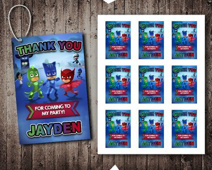Pj Masks Thank You Tags, Pj Masks Tags, Pj Masks Thank You Card, Pj Masks Favor Tags, DIY