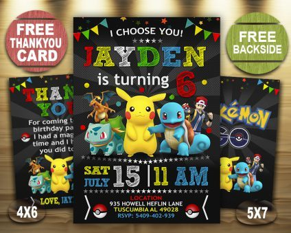 Pokemon Birthday Invitations Boys, Pokemon Invite, Pikachu Invitation, Pokemon Birthday Party, Pokemon Printable