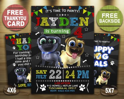 Puppy Dog Pals Invitation, Puppy Dog Pals Invite, Puppy Dog Pals Birthday Party, Puppy Dog Pals Printable, Puppy Dog Pals Card, DIY