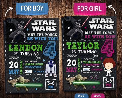 Star Wars Birthday Invitations Template, Star Wars Invite, Star Wars Birthday Party, Star Wars Printable, DIY