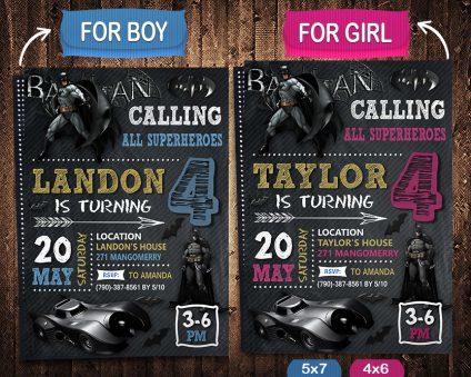 Batman Birthday Cards Handmade, Batman Invite, Batman Birthday Party, Batman Printable, DIY