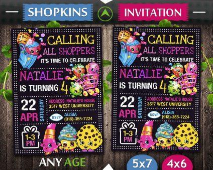 Shopkins Birthday Card Diy, Shopkins Invite, Shopkins Birthday Party, Shopkins Printable, Shopkins Card, DIY