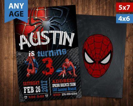 Spiderman Birthday Invitation, Spiderman Invite, Spiderman Birthday Party, Spiderman Printable, Spiderman Card, DIY