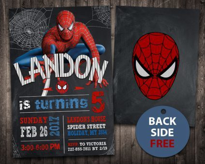 Spiderman Invitation, Spiderman Invite, Spiderman Birthday Party, Spiderman Printable, Spiderman Card, DIY