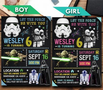 Star Wars Invitation, Star Wars Invite, Star Wars Birthday Party, Star Wars Printable, DIY
