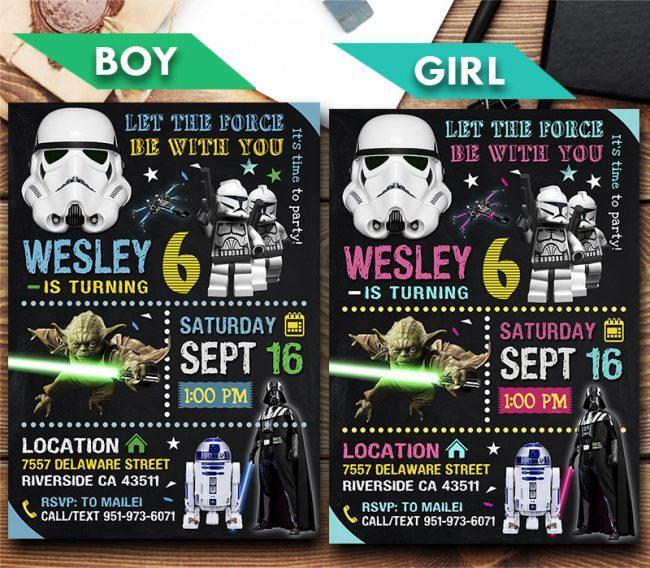 Star Wars Invitation, Star Wars Invite, Star Wars Birthday Party, Star Wars Printable, DIY
