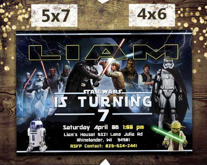 Star Wars Invitations Printables, Star Wars Invite, Star Wars Birthday Party, Star Wars Printable, DIY