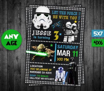Star Wars Party Invites, Star Wars Invite, Star Wars Birthday Party, Star Wars Printable, DIY