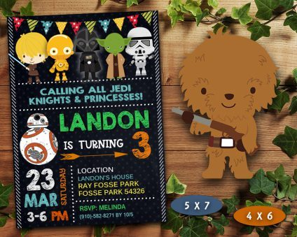 Star Wars Birthday Invitation, Star Wars Invite, Star Wars Birthday Party, Star Wars Printable, DIY