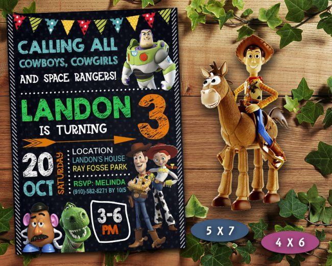 Toy Story Invitation, Toy Story Invite, Toy Story Birthday Party, Toy Story Printable, Toy Story Card, DIY
