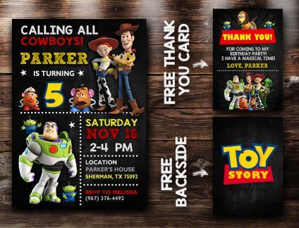 Toy Story Invitations Printables, Toy Story Invite, Toy Story Birthday Party, Toy Story Printable, Toy Story Card, DIY