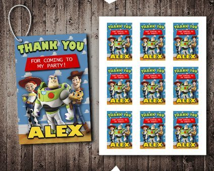 Toy Story Thank You Tags, Toy Story Tags, Toy Story Thank You Card, Toy Story Favor Tags, DIY