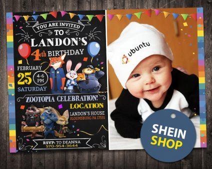 Zootopia Invitation, Zootopia Invite, Zootopia Birthday Party, Zootopia Printable, Zootopia Card, DIY