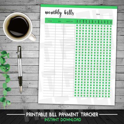 Bill Payment Tracker, Bill Organizer, Bill Due Planner, Bill Tracker, Weekly Budget Planner, Monthly Bill Tracker