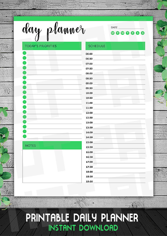 Daily Business Planner, Time Tracker, Daily Appointment Planner, Printable PDF, Business Planner, Instant Download