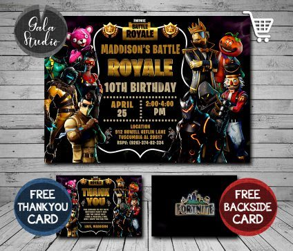 Fortnite Invitation, Fortnite Birthday Party Invitation, Fortnite Invitations, Fortnite Invite