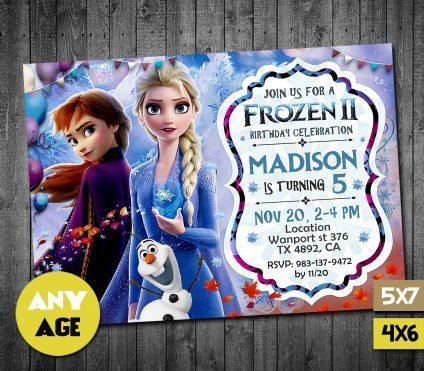 Frozen 2 Invitation, Frozen 2 Birthday Party Invitation, Frozen 2 Invitations, Frozen 2 Invite