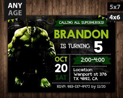 Hulk Invitations Printables, Hulk Invitations Printable, Hulk Birthday Party Invitations Printables