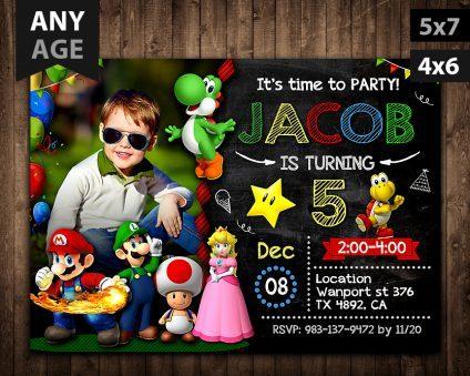 Mario Invitation, Mario Party Invitation, Mario Invitations, Mario Invite
